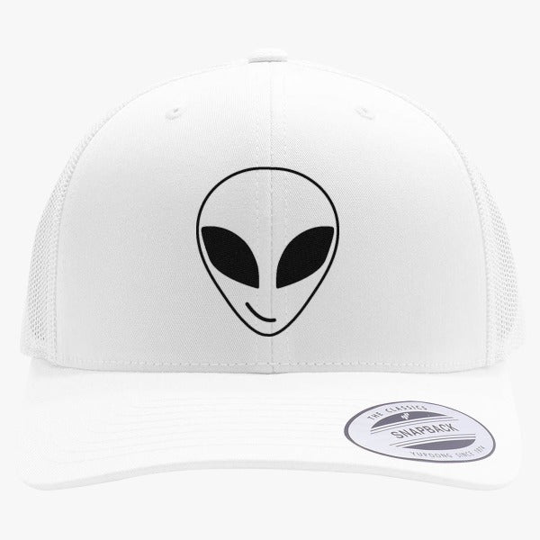 Alien Smiling Pocket Embroidered Retro Embroidered Trucker Hat