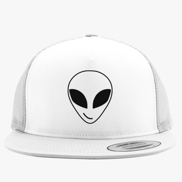 Alien Smiling Pocket Embroidered Trucker Hat
