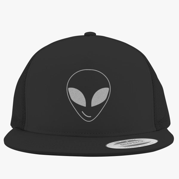 Alien Smiling Embroidered Trucker Hat