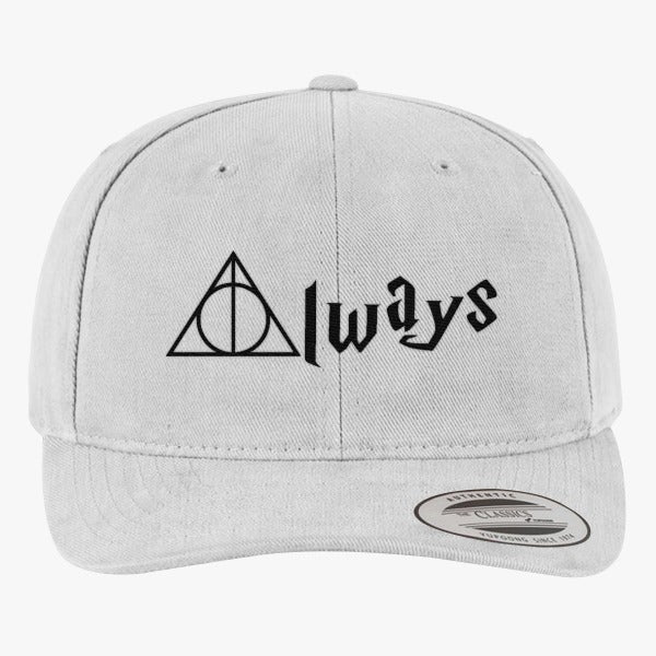 Always Deathly Hallows Brushed Embroidered Cotton Twill Hat
