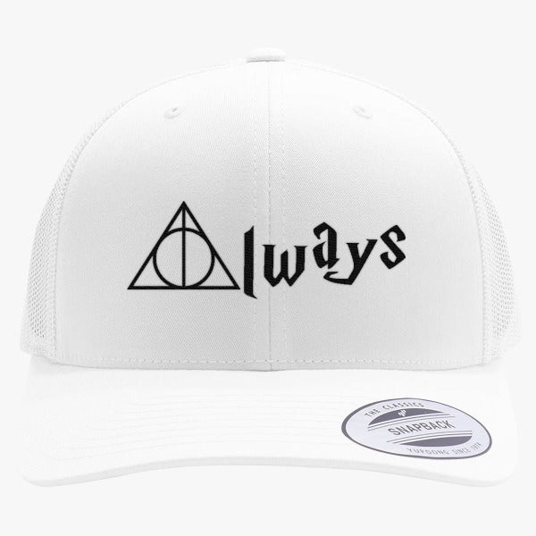 Always Deathly Hallows Embroidered Retro Embroidered Trucker Hat