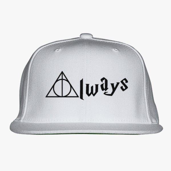 Always Deathly Hallows Embroidered Snapback Hat