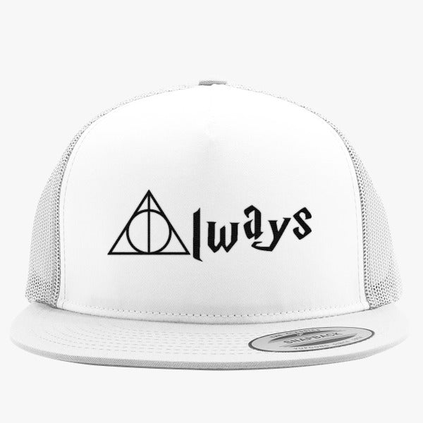 Always Deathly Hallows Embroidered Trucker Hat