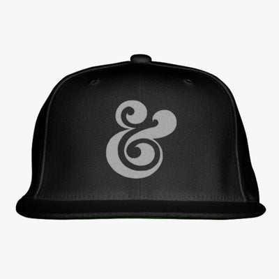 Ampersand Embroidered Snapback Hat
