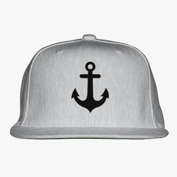 Anchor Embroidered Snapback Hat