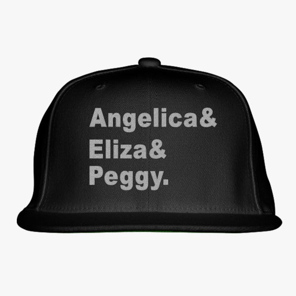 Angelica, Eliza, Peggy Embroidered Snapback Hat