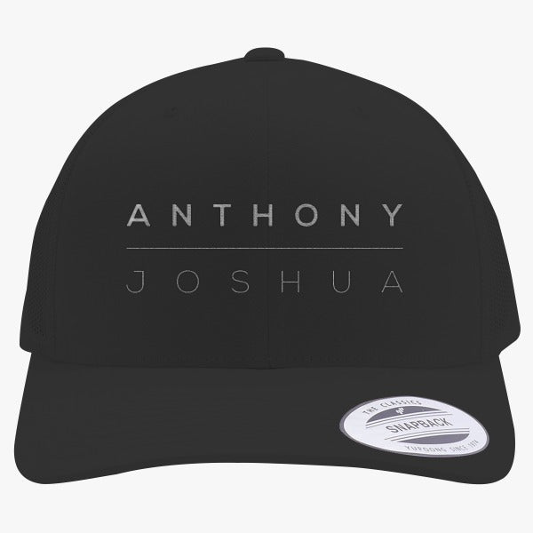 Anthony Joshua Logo Embroidered Retro Embroidered Trucker Hat