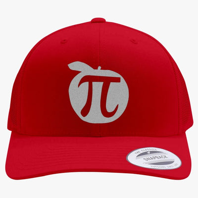 Apple Pi Mathematics  Embroidered Retro Embroidered Trucker Hat