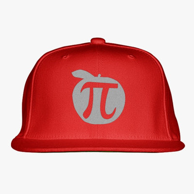 Apple Pi Mathematics  Embroidered Snapback Hat