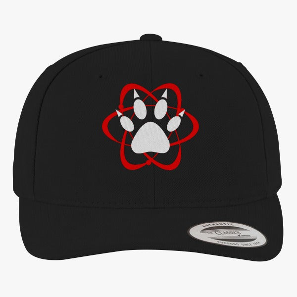 Atomic Paw Brushed Embroidered Cotton Twill Hat