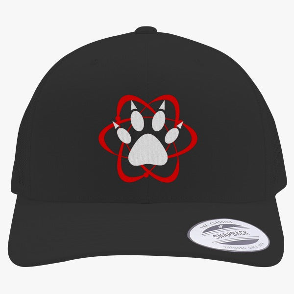 Atomic Paw Embroidered Retro Embroidered Trucker Hat