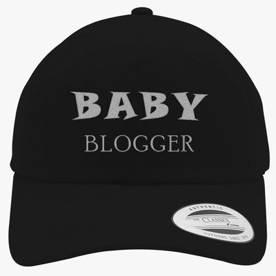Baby Blogger Embroidered Cotton Twill Hat