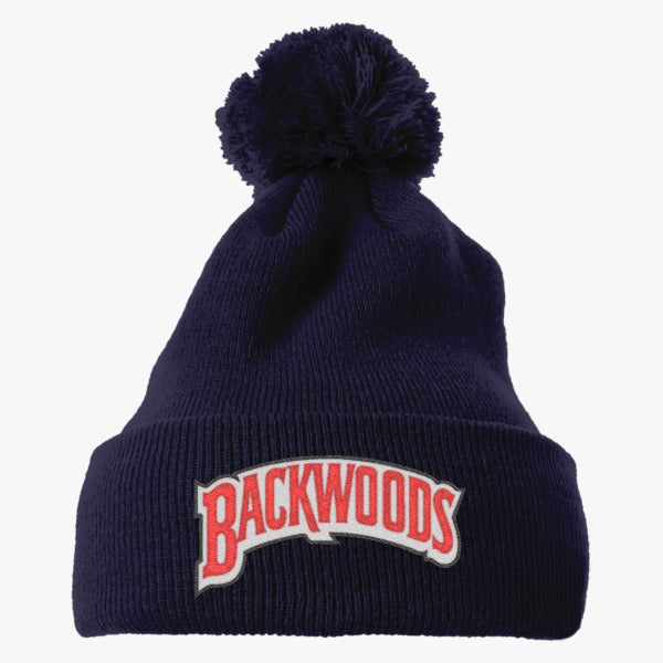 Backwoods Embroidered Knit Pom Cap