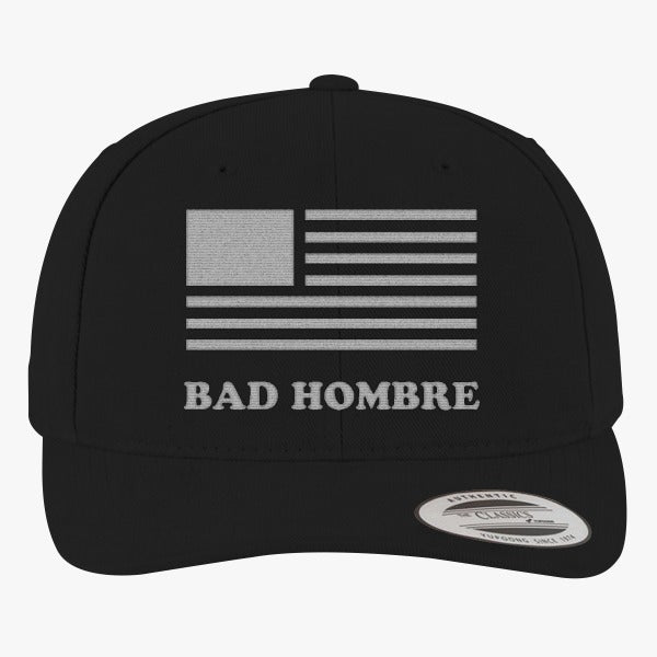 BadHombre - Get Your Bad Hombre T-shirt 2016  Brushed Embroidered Cotton Twill Hat