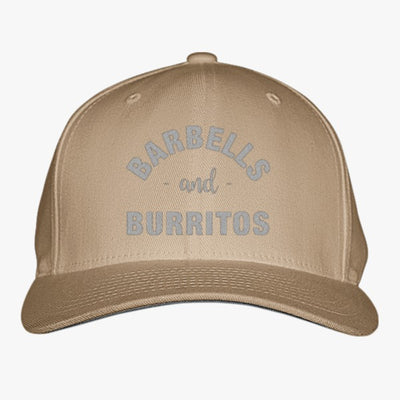 Barbells And Burritos Embroidered Baseball Cap