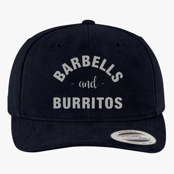 Barbells And Burritos Brushed Embroidered Cotton Twill Hat