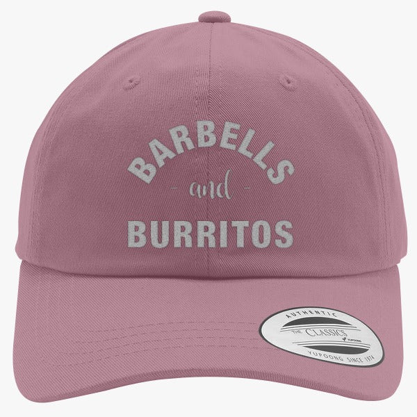 Barbells And Burritos Embroidered Cotton Twill Hat