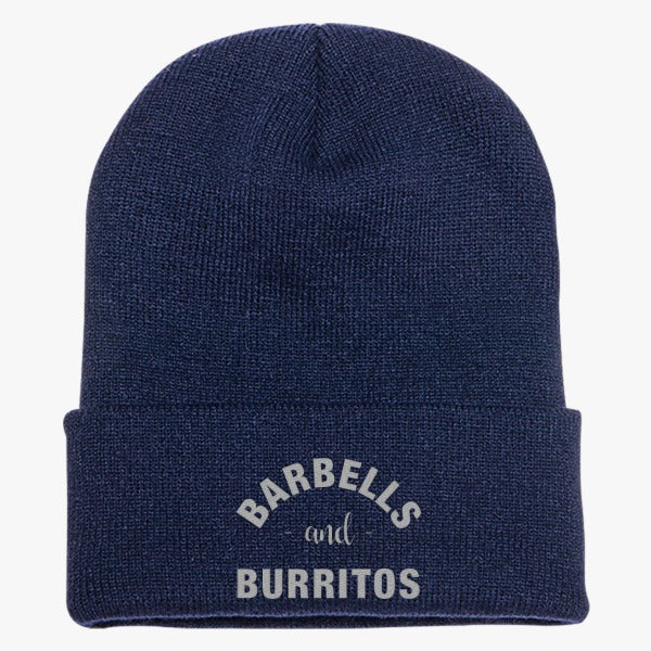 Barbells And Burritos Knit Cap