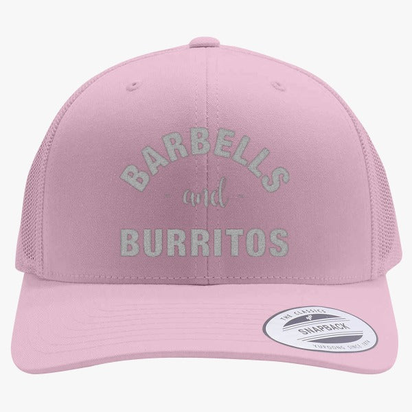 Barbells And Burritos Embroidered Retro Embroidered Trucker Hat