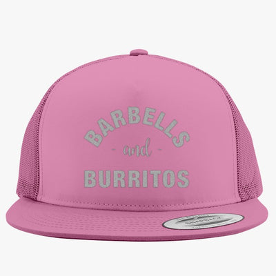 Barbells And Burritos Embroidered Trucker Hat