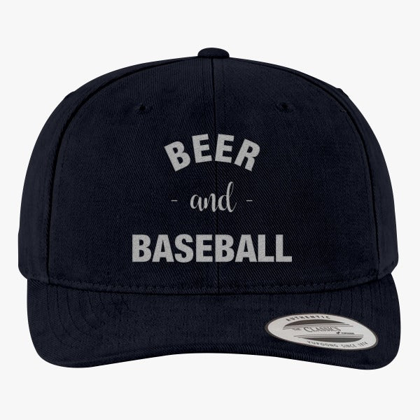 Baseball And Beer Brushed Embroidered Cotton Twill Hat