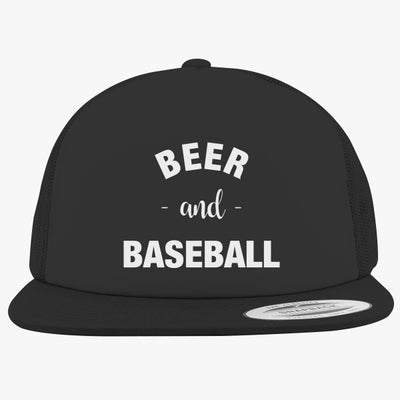 Baseball And Beer Foam Trucker Hat