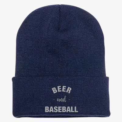Baseball And Beer Knit Cap