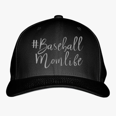 #baseball Mom Life Embroidered Baseball Cap