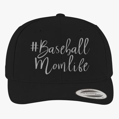 #baseball Mom Life Brushed Embroidered Cotton Twill Hat