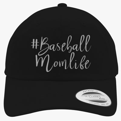 #baseball Mom Life Embroidered Cotton Twill Hat