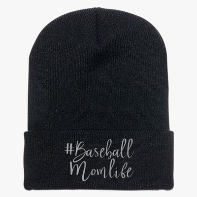 #baseball Mom Life Knit Cap