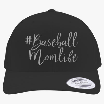 #baseball Mom Life Embroidered Retro Embroidered Trucker Hat