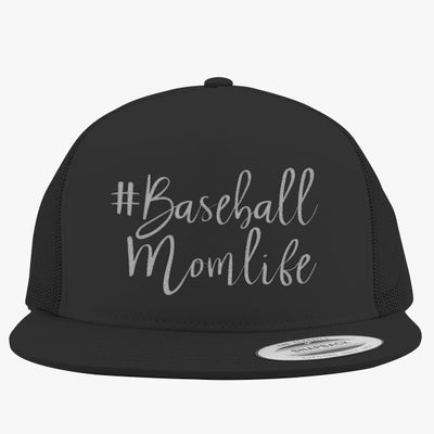 #baseball Mom Life Embroidered Trucker Hat