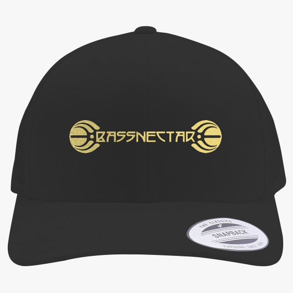 Bassnectar Gold Embroidered Retro Embroidered Trucker Hat