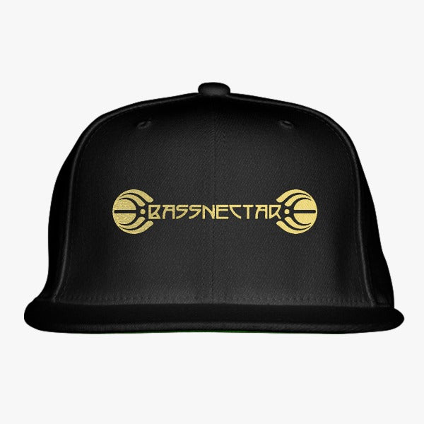 Bassnectar Gold Embroidered Snapback Hat