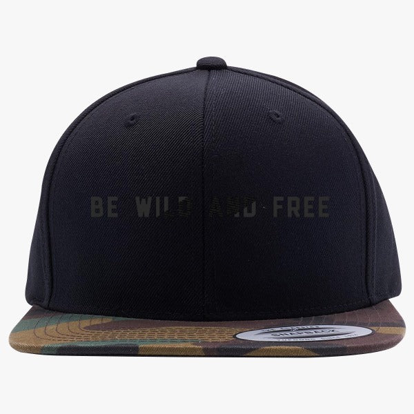 Be Wild And Free Embroidered Snapback Hat – Hatsline 689d82973629