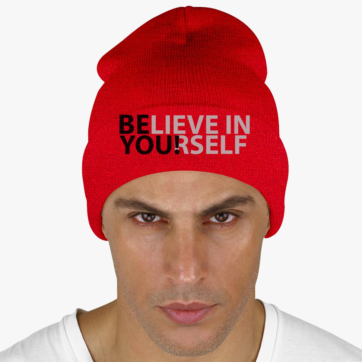 BELIEVE IN YOURSELF Knit Cap