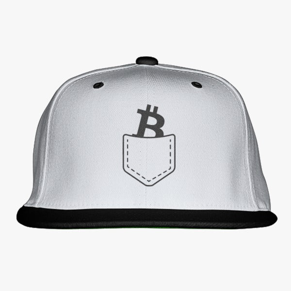 95ef5eebb15 Bitcoin Pocket Embroidered Snapback Hat – Hatsline