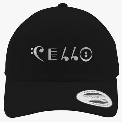 Cello Embroidered Cotton Twill Hat