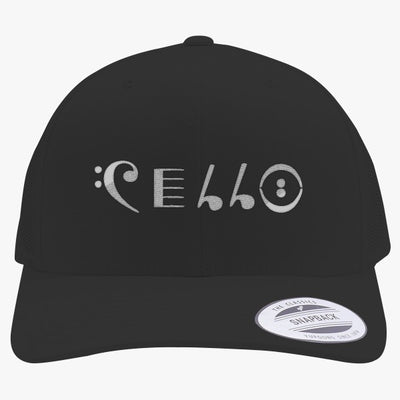 Cello Embroidered Retro Embroidered Trucker Hat