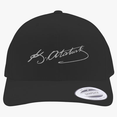 Kemal Ataturk Embroidered Retro Embroidered Trucker Hat