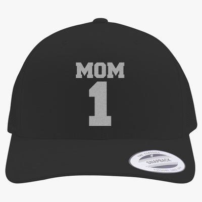 Number One Mom Embroidered Retro Embroidered Trucker Hat