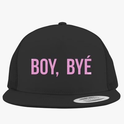 Boy Bye Embroidered Trucker Hat
