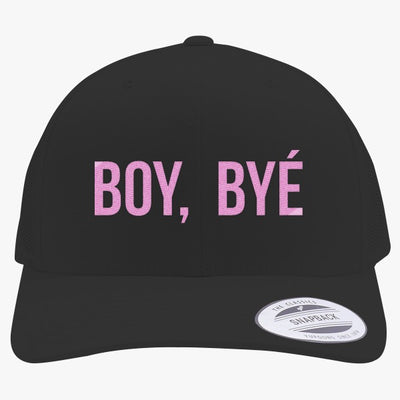 Boy Bye Embroidered Retro Embroidered Trucker Hat