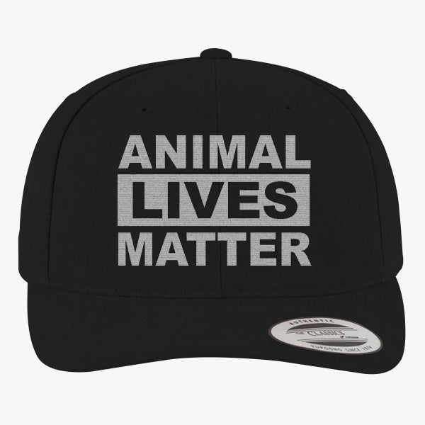 Animal Lives Matter Brushed Embroidered Cotton Twill Hat