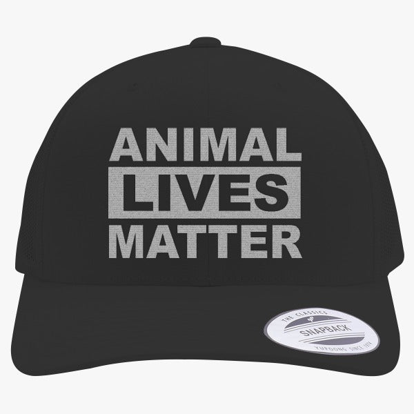 Animal Lives Matter Embroidered Retro Embroidered Trucker Hat