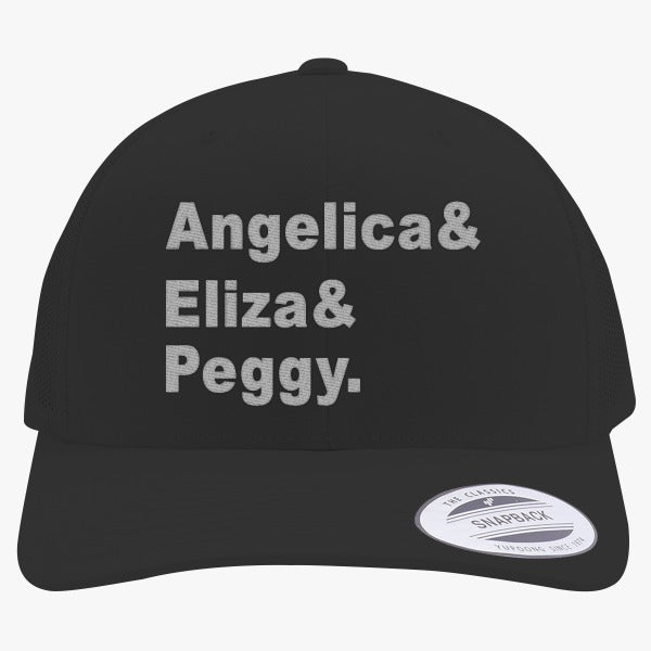 Angelica, Eliza, Peggy Embroidered Retro Embroidered Trucker Hat