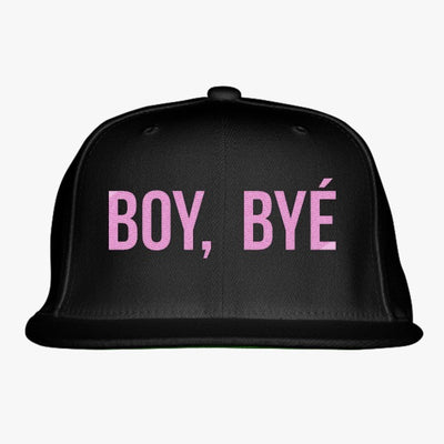 Boy Bye Embroidered Snapback Hat
