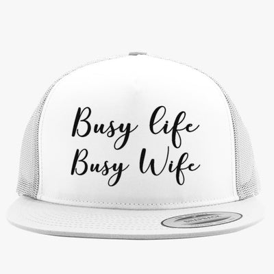 Busy Life Busy Wife Embroidered Trucker Hat