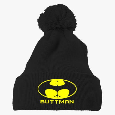 Buttman Embroidered Knit Pom Cap